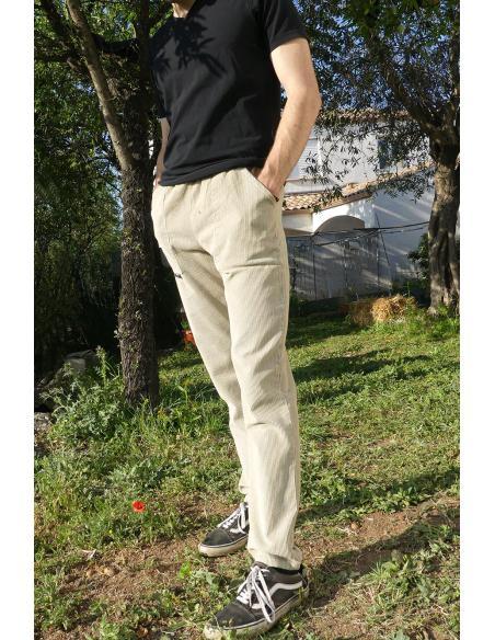 Pantalon en velours côtelé - noir, marine, kaki, beige par Coton Marine 39,90€