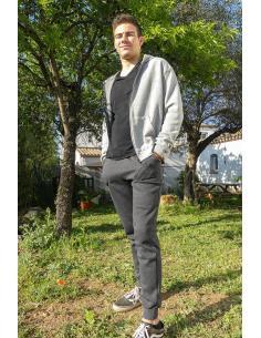 Veste zippé homme en coton a capuche