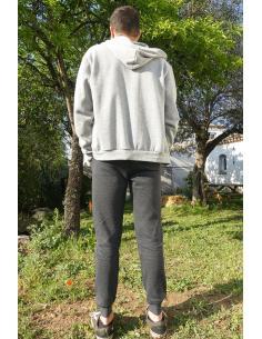 veste zippée en coton pour homme a capuche