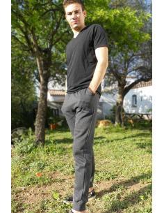 Pantalon de jogging homme molletonné resserré à la cheville par Coton Marine 22,95€
