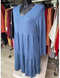 Robe Pull Femme à Volant par Coton Marine 29,90€