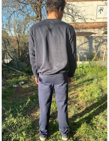 Pantalon de jogging homme molletonné coupe droite par Coton Marine 24,90€