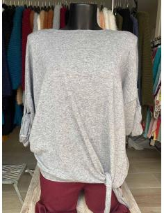 Pull noué sur le coté pour femme par Coton Marine 23,95€