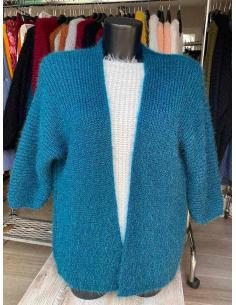 Gilet tricot en maille à grosse côte femme par Coton Marine 39,90€