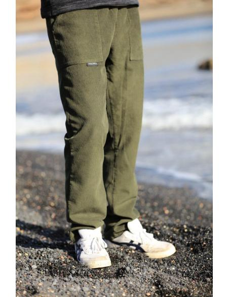 Pantalon Velours Kaki Côtelé, Pantalon Velours Cotelé Kaki pour Homme par Coton Marine 39,90€