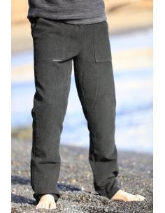 Pantalon Velours Noir Homme, Pantalon Velours Cotelé Noir Homme par Coton Marine 39,90€