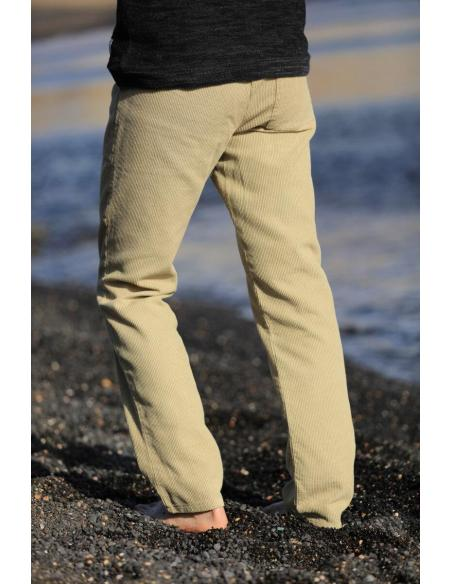 Pantalon Velours Beige Homme par Coton Marine 39,90€