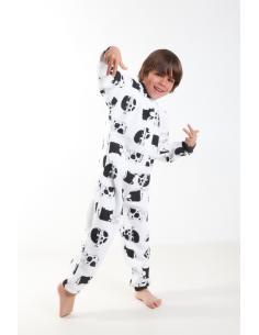 Coton Marine Grenouillères Pyjama Surpyjama Enfant GRENOUILLERE