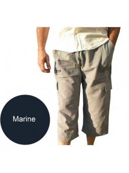 Coton Marine HOMME PANTACOURT HOMME MARINE POCHES CARGO