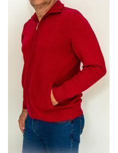 Coton Marine Accueil Veste zippée pour homme en coton 100 % avec poches latérales.