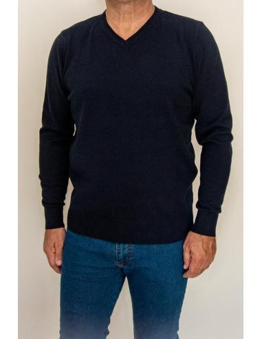 Pull Homme Col en V en Coton Grand Classique Basique Cotonmarine par Coton Marine 39,90€
