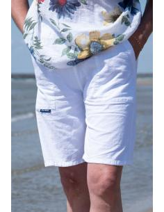 BERMUDA FEMME Blanc  - tennis etc.... COTON MARINE par Coton Marine 21,95€