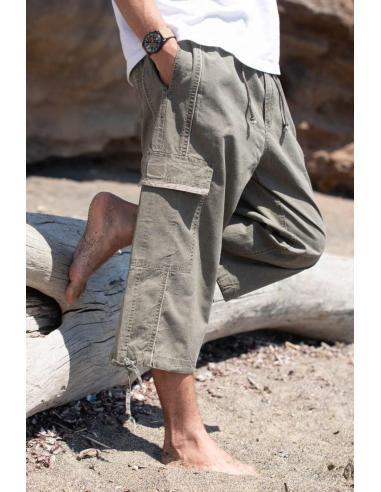 """Coton Marine HOMME NOUVEAUTE - Pantacourt Homme """" Cotonmarine """" 100% Coton beige"""