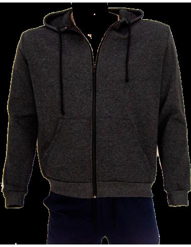 Veste zipée à capuche style jogging avec 2 poches devants par Coton Marine 27,90€