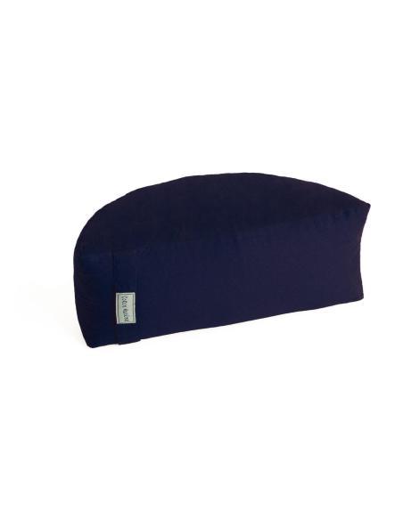 Coussin-zafu de méditation demi lune Cotonmarine déhoussable. garnis de petit épautre, Coton 100 % Bleu Marine par Coton Mari...