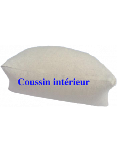 Coton Marine Coussins de méditation Coussin-zafu de méditation demi lune Cotonmarine déhoussable. garnis de petit épautre, Co...