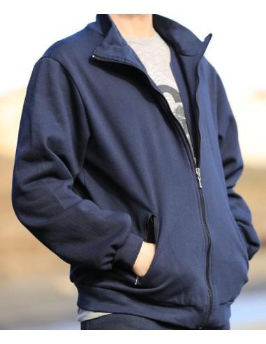 Veste style survêtement avec 2 poches zipéées par Coton Marine 27,90€