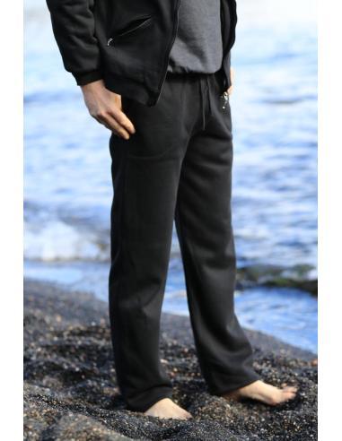 Pantalon de jogging homme molletonné coupe droite par Coton Marine 22,95€